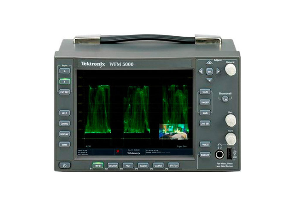 Tektronix WFM5000 HD Multistandard Multiformat Compact Waveform Monitor
