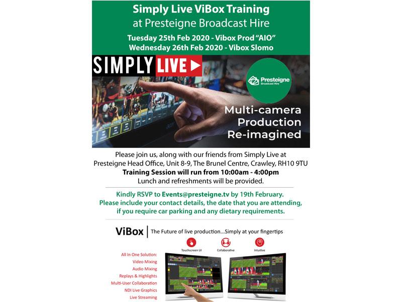 Simply Live ViBox Training